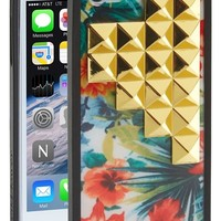 wildflower 'Floral Gold Studded Pyramid' iPhone 5 & 5s Case