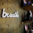 breathe wood sign handmade from upcycled wood by OhDierLiving