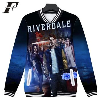 LUCKYFRIDAYF 2018 Riverdale 3D Print  south side serpents Women/Men Baseball Jacket bomber Sweatshirt  Jughead Jones Jacket coat