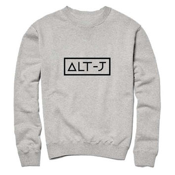 alt j Sweatshirt Crewneck Men or Women for Unisex Size