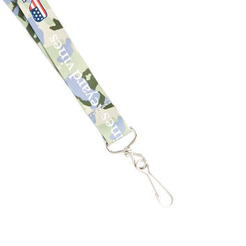 Camo Flag Filled Whale Lanyard