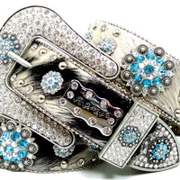 BHW CoWgiRl WeStErN BriNdLe TuRqUoiSe-AB BeRrY CoNcHo LeAtHeR HaiR BeLt