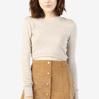 Perry Cropped Sweatshirt - Sand
