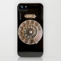 OLD BLACK PHONE iPhone & iPod Case by Simone Morana Cyla
