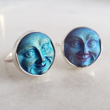 Mystical Moon Face Ring - Choose your Size