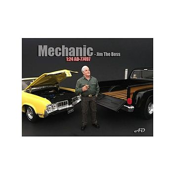 Mechanic Jim The Boss Figurine / Figure For 1:24 Models by American Diorama