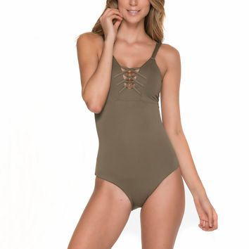 Olive Green One Piece