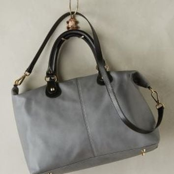 Bhailiu Savina Leather Satchel Grey One Size Bags