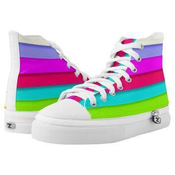 high tops rainbow color designer converse sneakers printed shoes