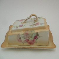 Old Foley James Kent Staffordshire York Butter Dish