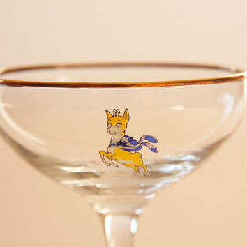 Babycham Glasses And Deer
