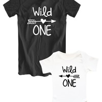 "Mother and daughter matching shirts ""Wild ONE"""