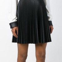 Amen Pleated Faux Leather Skirt - Parisi - Farfetch.com