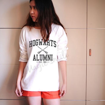 Maroon Hogwarts Alumni Shirt Harry Potter Shirts Premium cotton Crop tank, Tank Top, T-shirt, Long sleeve, unisex shirt, women tank
