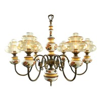 Pre-owned Vintage French Country Ceramic Chandelier