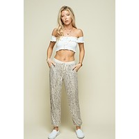 Women's Sequin Jogger Pants