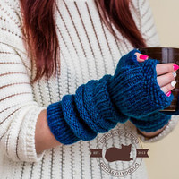 Extra Long Gloves, Knit gloves Fingerless, Christmas Gift For Women , Winter Knitted Gloves, Arm Warmers, Soft Arm Warmers For Women
