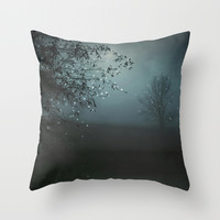 Song of the Nightbird Throw Pillow by Monika Strigel