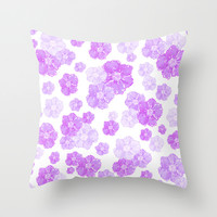 Lavender Blossoms Throw Pillow by Lisa Argyropoulos
