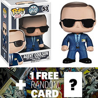 Agent Coulson: Funko POP! x Agents of S.H.I.E.L.D. Vinyl Figure + 1 FREE Official Marvel Trading Card Bundle [40536]