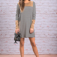 Lovely Accents Dress, Black-White
