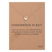 Tiny Sky Card Alloy Clavicle Pendant Necklace   171212