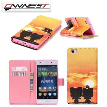 OWNEST Luxury Mobile Phone Funda For iphone 5 5S 6 6S 7 7 Plus Cover Flip Case PU Leather Wallet Cover Protective Shell Skin