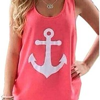 FUNOC Womens Summer Vest Top Sleeveless Blouse Casual Tank Tops T-Shirt