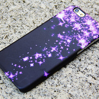 Purple Glitter Dancing Stars iPhone 6 Case iPhone 6 plus Case iPhone 5S 5 iPhone 5C Case Samsung Galaxy S6 edge S6 S5 S4 Note 3 Case 031