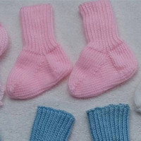 Baby Girl Pink Socks, Infant Socks, Baby Shower Gift, Hand Knit Socks, Baby Socks