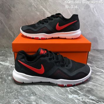 DCCK2 N816 NIKE FLEX CONTROL II Mesh breathable running shoes Black Red
