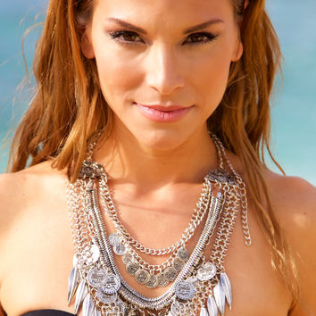 NOMAD HAWAII Layers & Layers Necklace - Silver