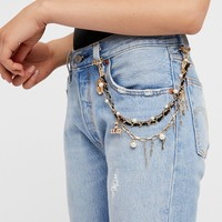 Free People Heart Lockdown Pocket Chain