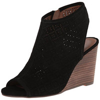Lucky Brand Womens Suede Stacked Wedges