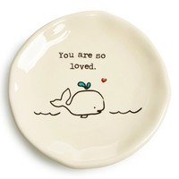 Natural Life 'Whale - You Are So Loved' Ceramic Trinket Dish