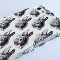 bunny phone case - iphone 5 / 5S - rabbit - 4 / 4S / 3G / 3GS / samsung galaxy 3 / ipod touch, blackberry bunny rabbits