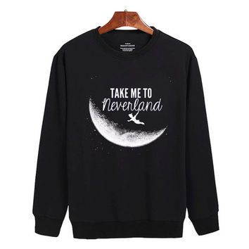 Peter Pan Take me to neverland Sweater sweatshirt unisex adults size S-2XL