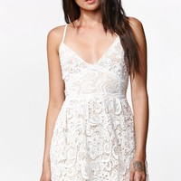 Kendall & Kylie Sleeveless Crochet Dress - Womens Dress - White