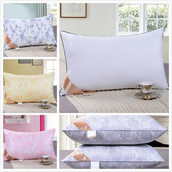 Hotel Luxury High Quality White Neck Pillow Filling Core Cushion Stuffing Inner 42x70 48x74cm Home Bed Soft Comfortable 750/800g
