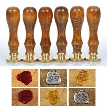 Sealing Wax Classic Initial Wax Seal Stamp Alphabet Letter Retro Wood Scrapbooking Stamp  HG99