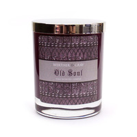 OLD SOUL Candle, 5.5oz Soy Blend Scented Candle, Sage & Myrrh Purple Candle, Medieval Design, Historic Personality Type Character Gift