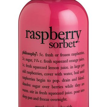 Women's philosophy 'raspberry sorbet' award-winning ultra-rich 3-in-1 shampoo, shower gel & bubble bath