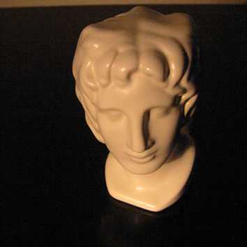 Italian Ceramic Figure Head Bisque Pottery Bust