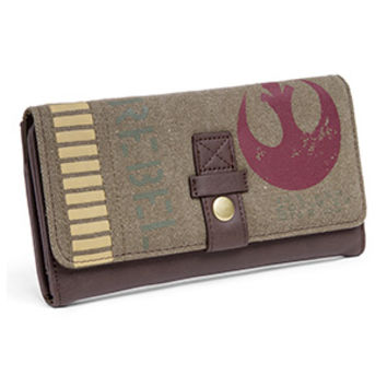 Rebel Twill and Vegan Leather Wallet