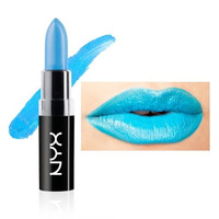 "NYX Macaron Pastel Lippies Lipstick -Blue Velvet : MALS04 ""Electric Blue"" 4.5 g"