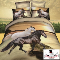3D Animal Printed Horse Bedding Set and Quilt Cover Design 3
