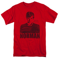 BATES MOTEL/NORMAN - S/S ADULT 18/1 - RED - XL - Red -