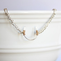 Lucky Horseshoe Necklace - Silver Horseshoe jewelry - Horseshoe charm - Wire Wrapped Jewelry Dainty Jewelry