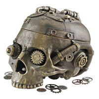 Park Avenue Collection Steampunk Skull Containment Vessel