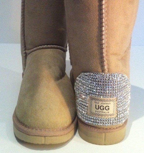 ugg boots featuring swarovski crystals from mydiamonte. Black Bedroom Furniture Sets. Home Design Ideas